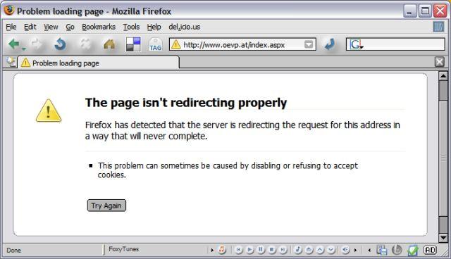 ÖVP-Homepage mit Firefox