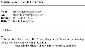 E-Mail Ausdruck mit GroupWise