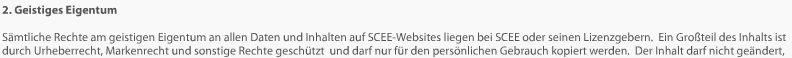 Sämtliche Rechte an den Inhalten dieser Seite liegen bei SCEE