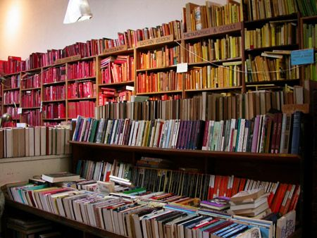 Books sorted by color