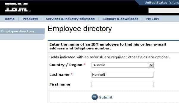 IBM Employee Directory