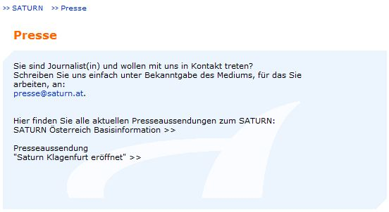 Saturn - Presse