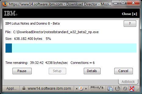 Download progress