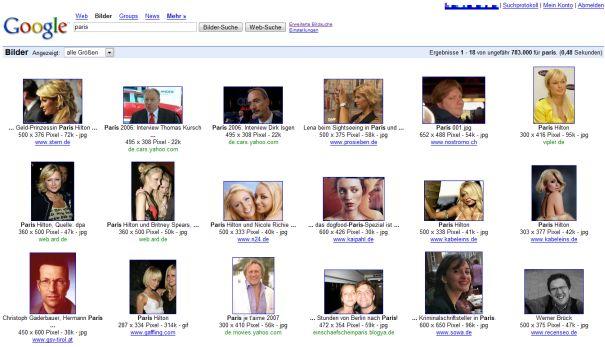 Google Gesichtersuche