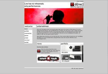 Screenshot direc Homepage