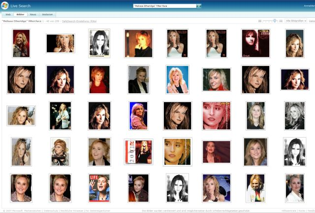Live Search Images - Melissa Etheridge