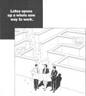 Lotus Notes poster from 1991