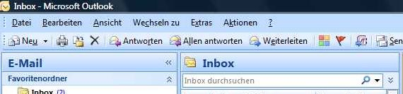 Outlook - Kein Ribbon