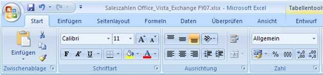 Ribbon Excel