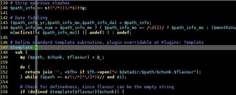 Coding font