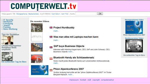 Screenshot Computerwelt.tv
