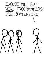 xkcd cartoon Real Programmers