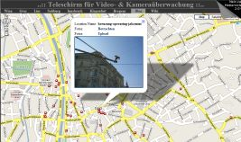 Screenshot Teleschirm für Video- & Kameraüberwachung