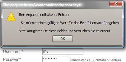 emailcharity error