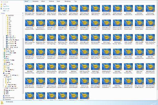 Screenshot MP3 folder