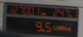 Odometer displaying 127.0.0.1