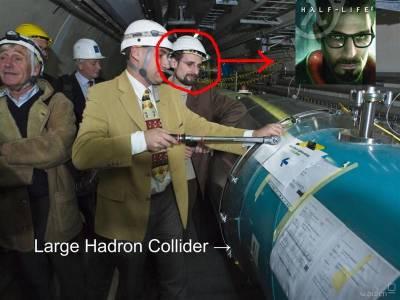Gordon Freeman arbeitet auch beim LHC mit