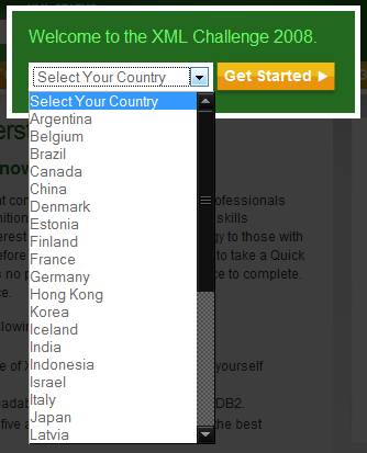 IBM country selection without Austria