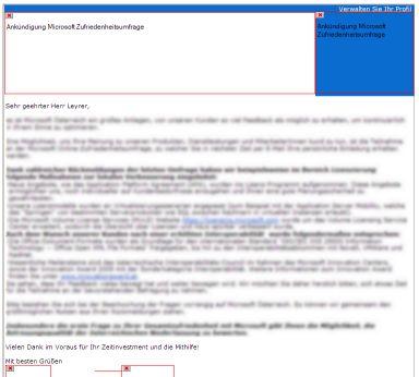 Microsoft Newsletter ohne Bilder