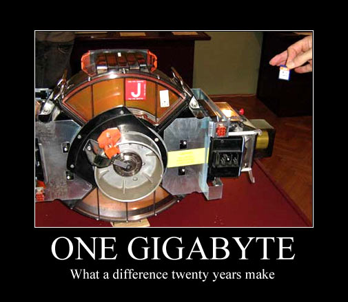 One Gigabyte - What a difference 20 years make