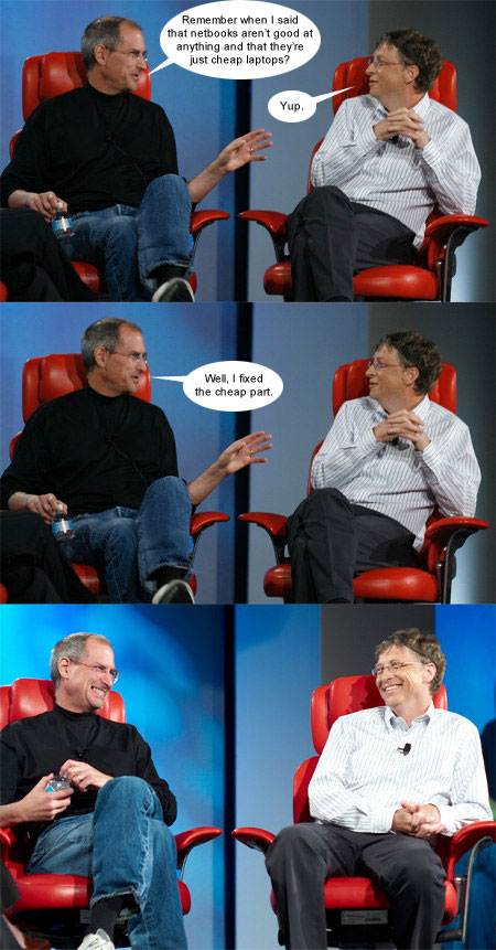 Jobs, Gates, Netbook